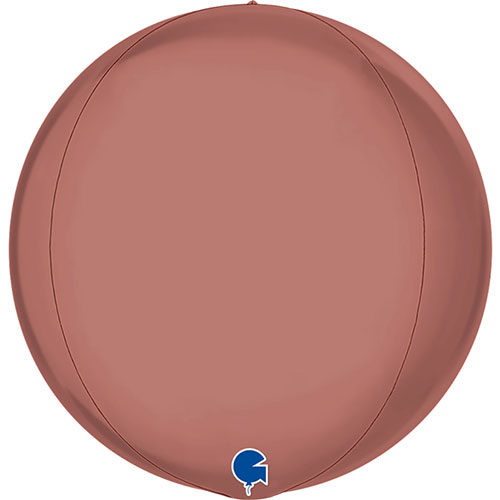 Platinum Rose Gold 4D Globe Foil Helium Balloon 38cm / 15 in