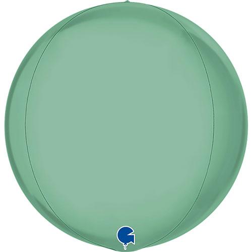 Platinum Tiffany Blue 4D Globe Foil Helium Balloon 38cm / 15 in