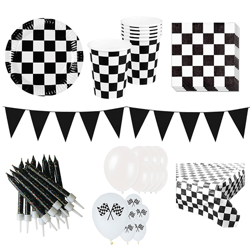 Racing Theme 12 Person Deluxe Party Pack