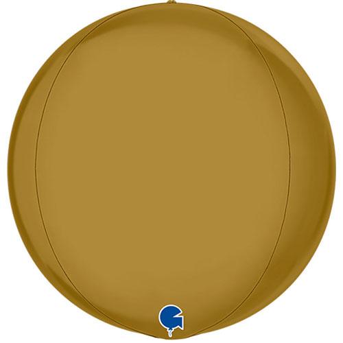 Satin Gold 4D Globe Foil Helium Balloon 38cm / 15 in