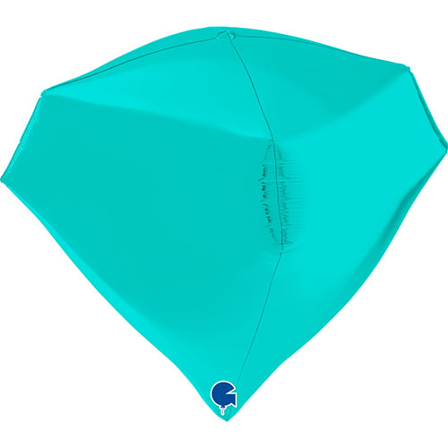 Tiffany Blue 4D Gem Shape Foil Helium Balloon 45cm / 18 in