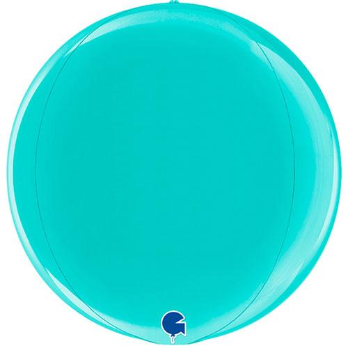 Tiffany Blue 4D Globe Foil Helium Balloon 38cm / 15 in