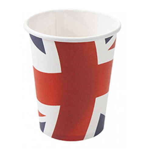 Union Jack Paper Cups 250ml - Pack of 10