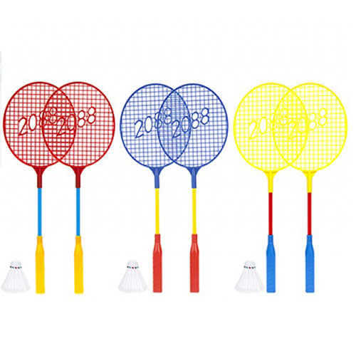 Assorted Badminton Racquets with Shuttlecock Set