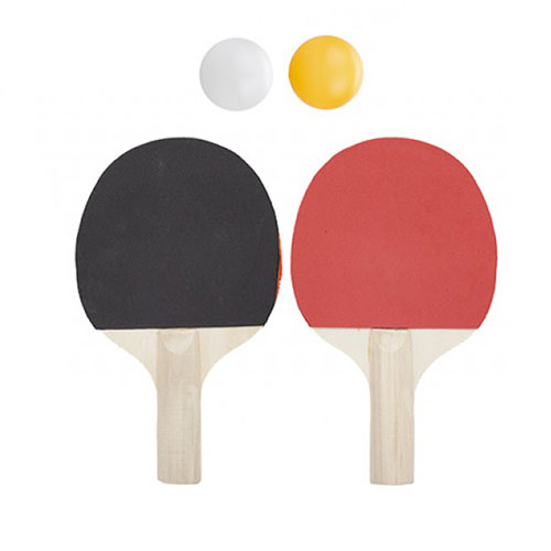 Assorted Table Tennis Ping Pong Bats with Balls Set