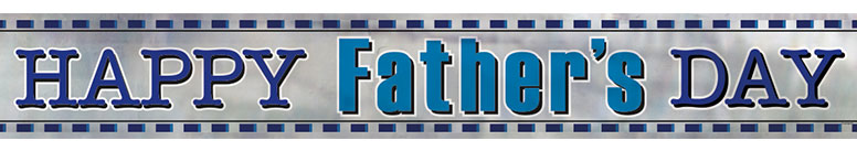 Happy Father's Day Foil Banner 3.65m