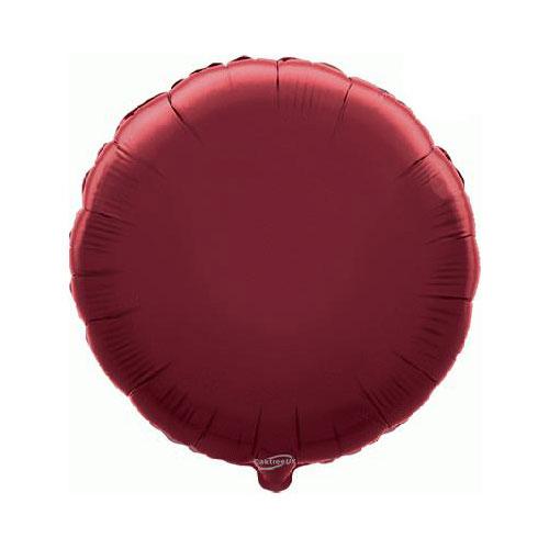 Burgundy Round Foil Helium Balloon 46cm / 18 in