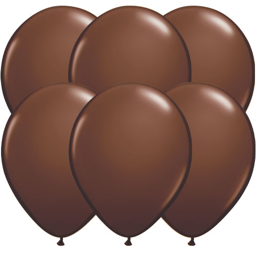 Chocolate Brown Round Latex Qualatex Balloons 28cm / 11 in - Pack of 10