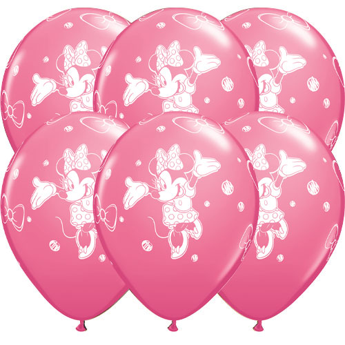 Disney Minnie Latex Helium Qualatex Balloons 30cm / 12 in - Pack of 6