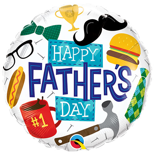 Everything Father's Day Round Foil Helium Qualatex Balloon 46cm / 18 in