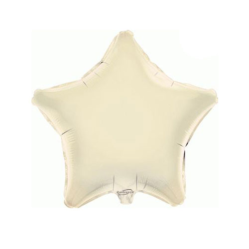 Ivory Star Foil Helium Balloon 46cm / 18 in