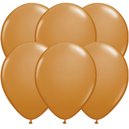 Mocha Brown Round Latex Qualatex Balloons 28cm / 11 in - Pack of 10