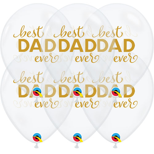 Simply Best Dad Ever Latex Helium Qualatex Balloons 28cm / 11 in - Pack of 10