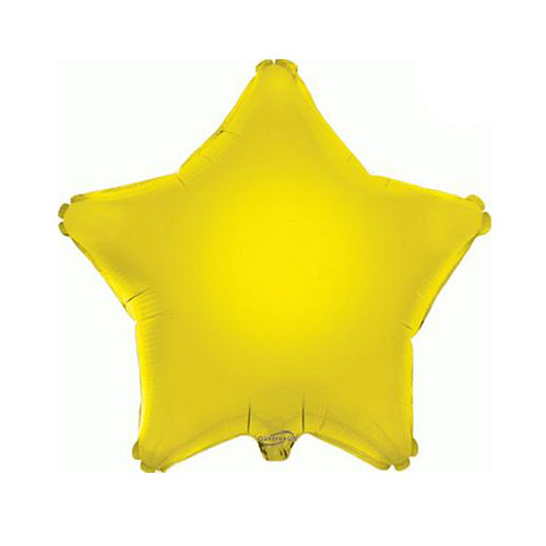 Yellow Star Foil Helium Balloon 46cm / 18 in