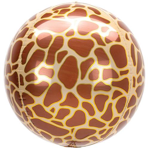 Animalz Giraffe Print Orbz Foil Helium Balloon 38cm / 15 in