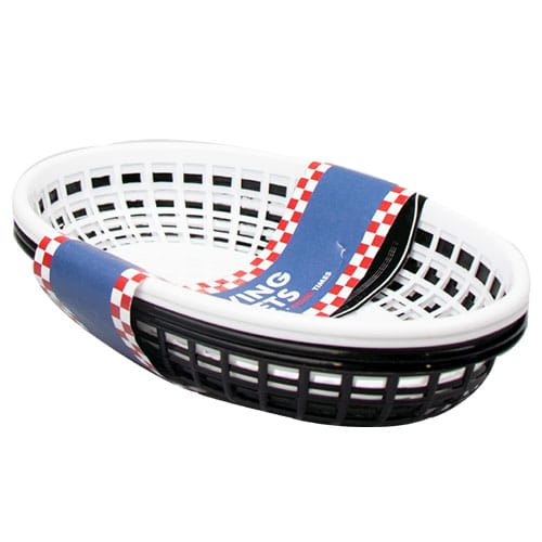 Assorted BBQ Plastic Serving Baskets - Pack of 4