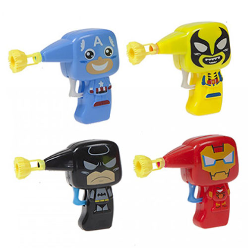 Assorted Superhero Bubble Gun Toy Set