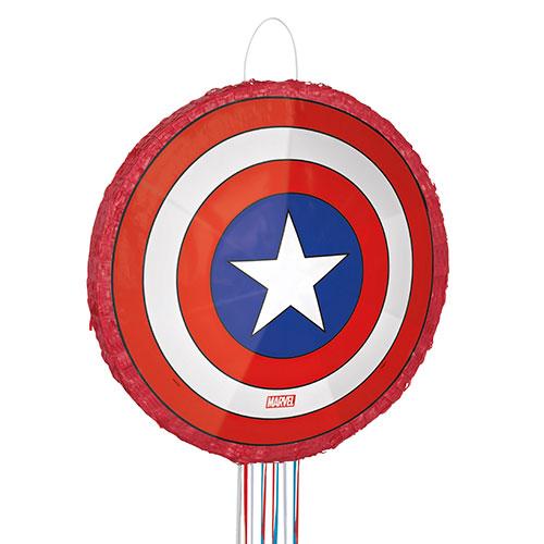 Avengers Captain America Shield 3D Pull String Pinata