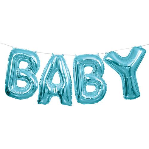 Blue Baby Air Fill Foil Balloon Kit 35cm