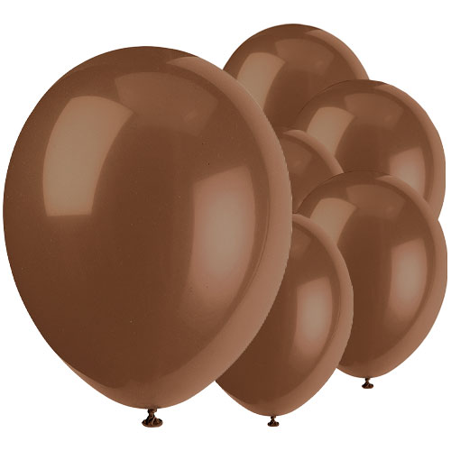 Chocolate Brown Biodegradable Latex Balloons 30cm / 12 in - Pack of 50