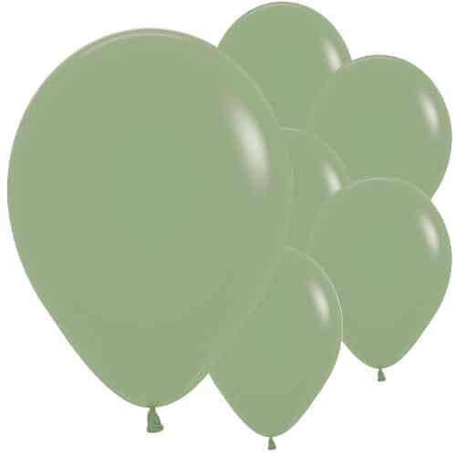 Fashion Green Eucalyptus Biodegradable Latex Balloons 30cm / 12 in - Pack of 50