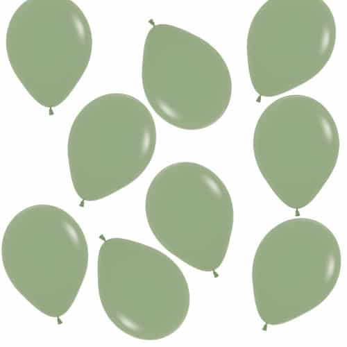 Fashion Green Eucalyptus Biodegradable Mini Latex Balloons 13cm / 5 in - Pack of 100