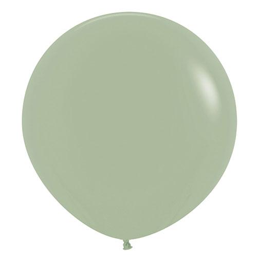 Fashion Green Eucalyptus Jumbo Biodegradable Latex Balloons 61cm / 24 in - Pack of 3