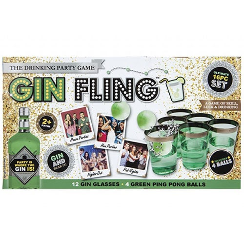 Gin Fling Adult Drinking Game Set