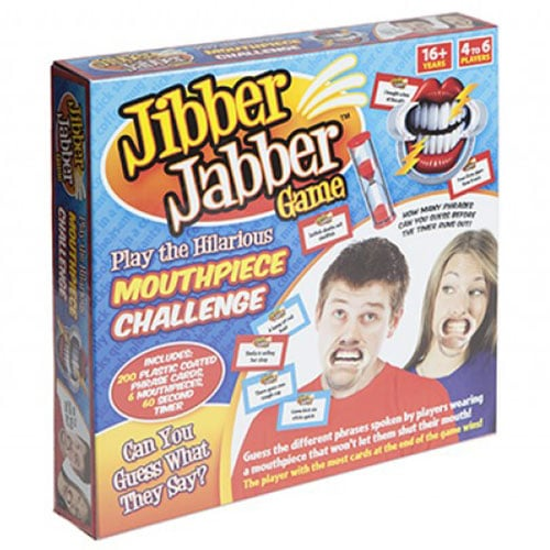 Jibber Jabber Mouthguard Challenge Party Game Set