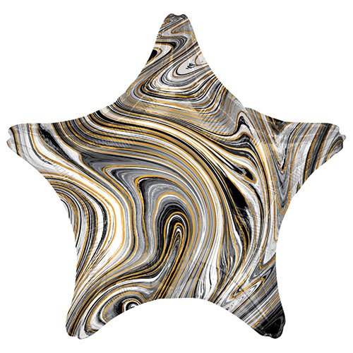 Marblez Black Star Shape Foil Helium Balloon 48cm / 19 in