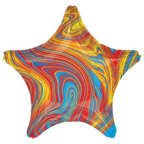 Marblez Colourful Star Shape Foil Helium Balloon 48cm / 19 in