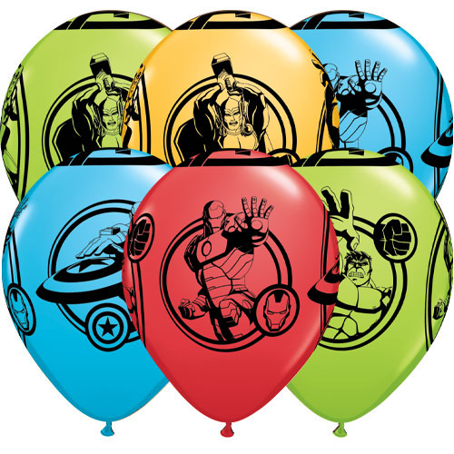 Marvel Avengers Assorted Latex Helium Qualatex Balloons 28cm / 11 in - Pack of 10