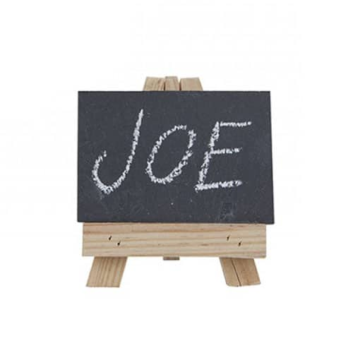 Mini Wooden Easels with Slates Place Settings Set