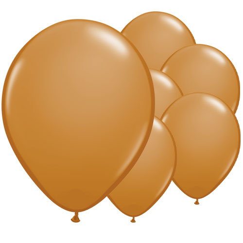 Mocha Brown Round Latex Qualatex Balloons 28cm / 11 in - Pack of 100