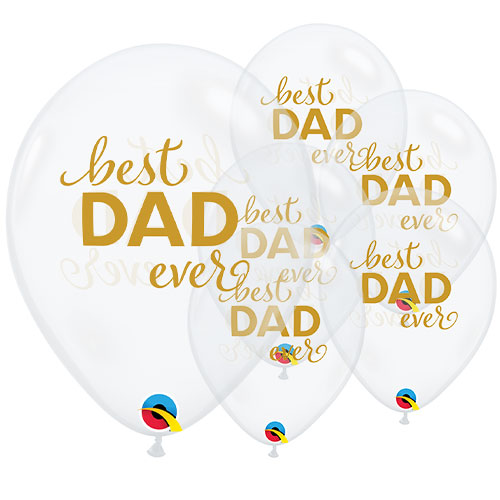 Simply Best Dad Ever Latex Helium Qualatex Balloons 28cm / 11 in - Pack of 25