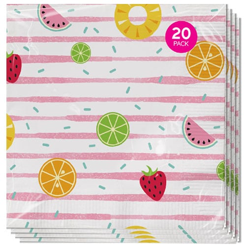 Assorted Summer Luncheon Napkins 33cm 3Ply - Pack of 20 Gallery Image