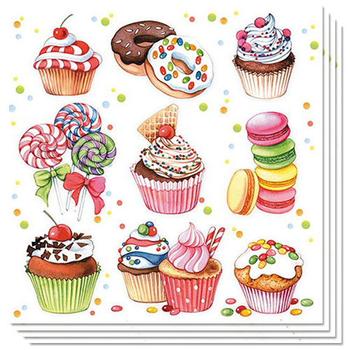 Sweets Premium Luncheon Napkins 3Ply 33cm - Pack of 20