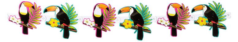 Toucan Hawaiian Cardboad Banner 160cm