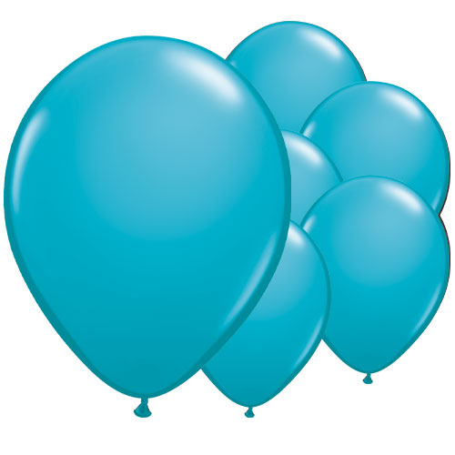 Tropical Caribbean Teal Round Latex Qualatex Balloons 28cm / 11 in - Pack of 100