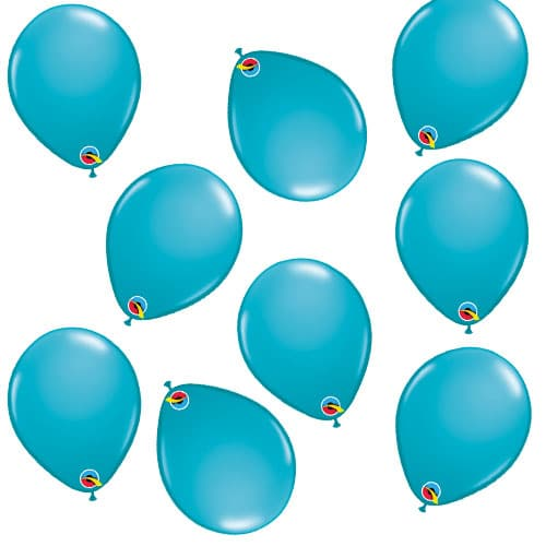 Tropical Caribbean Teal Round Mini Latex Qualatex Balloons 13cm / 5 in - Pack of 100