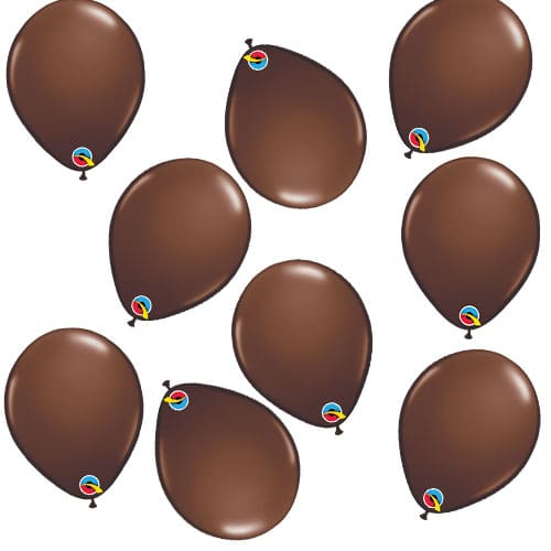 Chocolate Brown Round Mini Latex Qualatex Balloons 13cm / 5 in - Pack of 100
