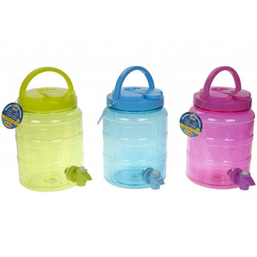 Assorted Plastic Drinks Dispenser with Tap 2l