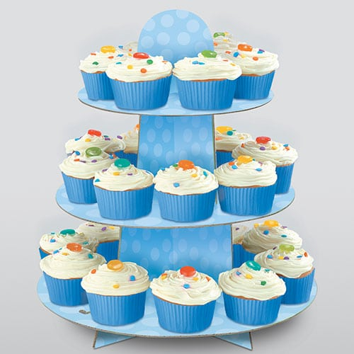 Blue Cupcake Stand Gallery Image