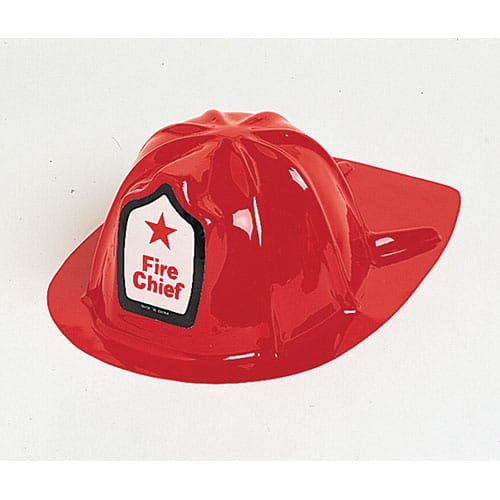 Children Plastic Fireman Helmet Fancy Dress