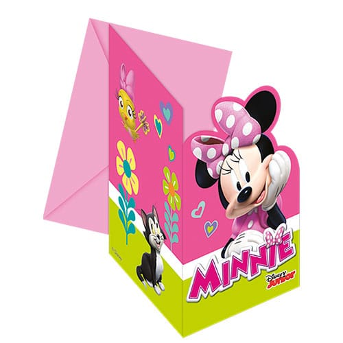 Disney Minnie Mouse Invitations with Envelopes - Pack of 6