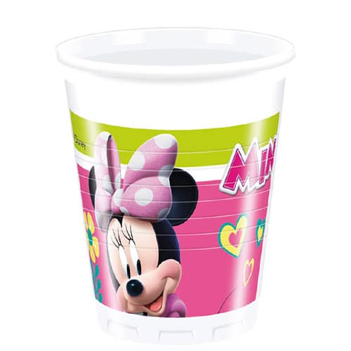 Disney Minnie Mouse Plastic Cups 200ml - Pack of 8