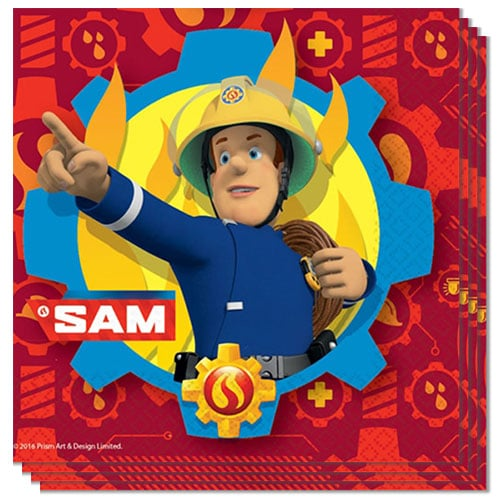 Fireman Sam Luncheon Napkins 33cm 2Ply - Pack of 20