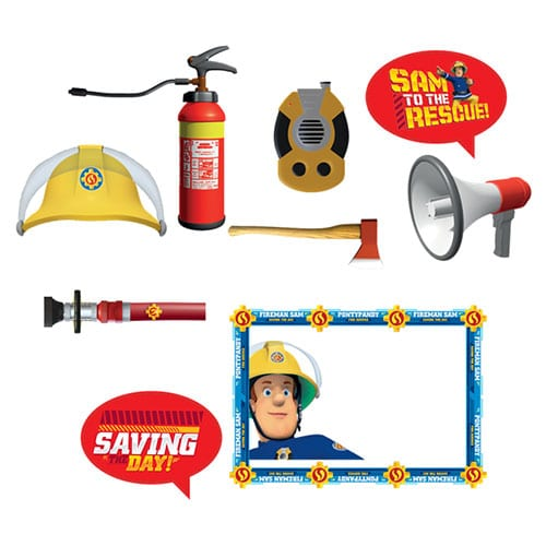 Fireman Sam Photo Booth Props Kit Product Gallery Image