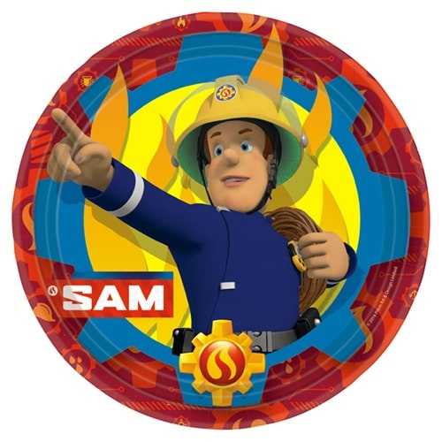 Fireman Sam Round Paper Plates 23cm - Pack of 8