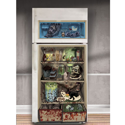 Fridge Door Cover Halloween Decoration 165cm